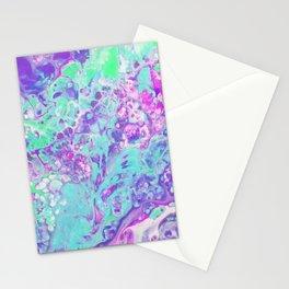 Fluid Acid Pool Marble Stationery Cards