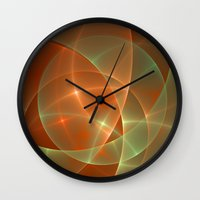 shining Wall Clocks featuring Shining by gabiw Art