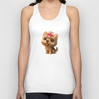 terrier Tank Tops featuring Yorkshire Terrier by Antracit