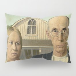 American Gothic Oil Painting by Grant Wood Pillow Sham