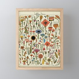 Wildflower Chart Framed Mini Art Print
