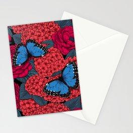Blue morpho Stationery Cards
