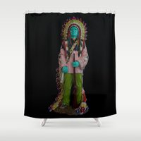 indian Shower Curtains featuring indian by Gwen Aucoin