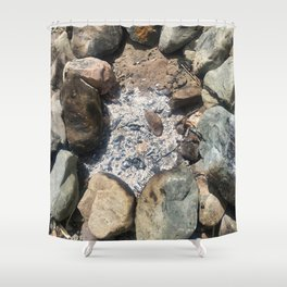 Fire Pit Remains Shower Curtain