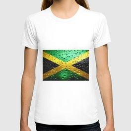 Flag of Jamaica - Raindrops T-shirt