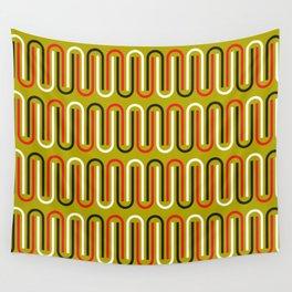 Geometric Pattern #110 (mustard red) Wall Tapestry