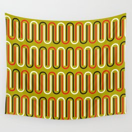 Geometric Pattern 110 (mustard red) Wall Tapestry