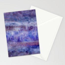 Misty Pine Forest Stationery Cards