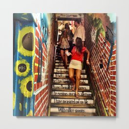 T.S. Eliot Stairs Metal Print