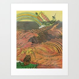 Mu Guai and the Tiger's Eye, Panel 9 Art Print