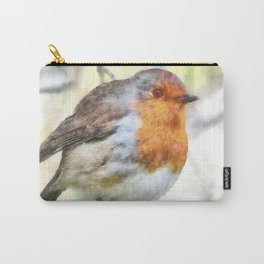 Christmas Robin Redbreast Winter Watercolor Carry-All Pouch