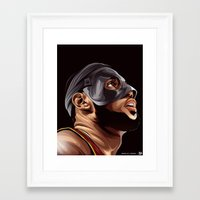 lebron Framed Art Prints featuring THE KING by THEMAD3