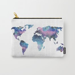 Galaxy World Map Carry-All Pouch