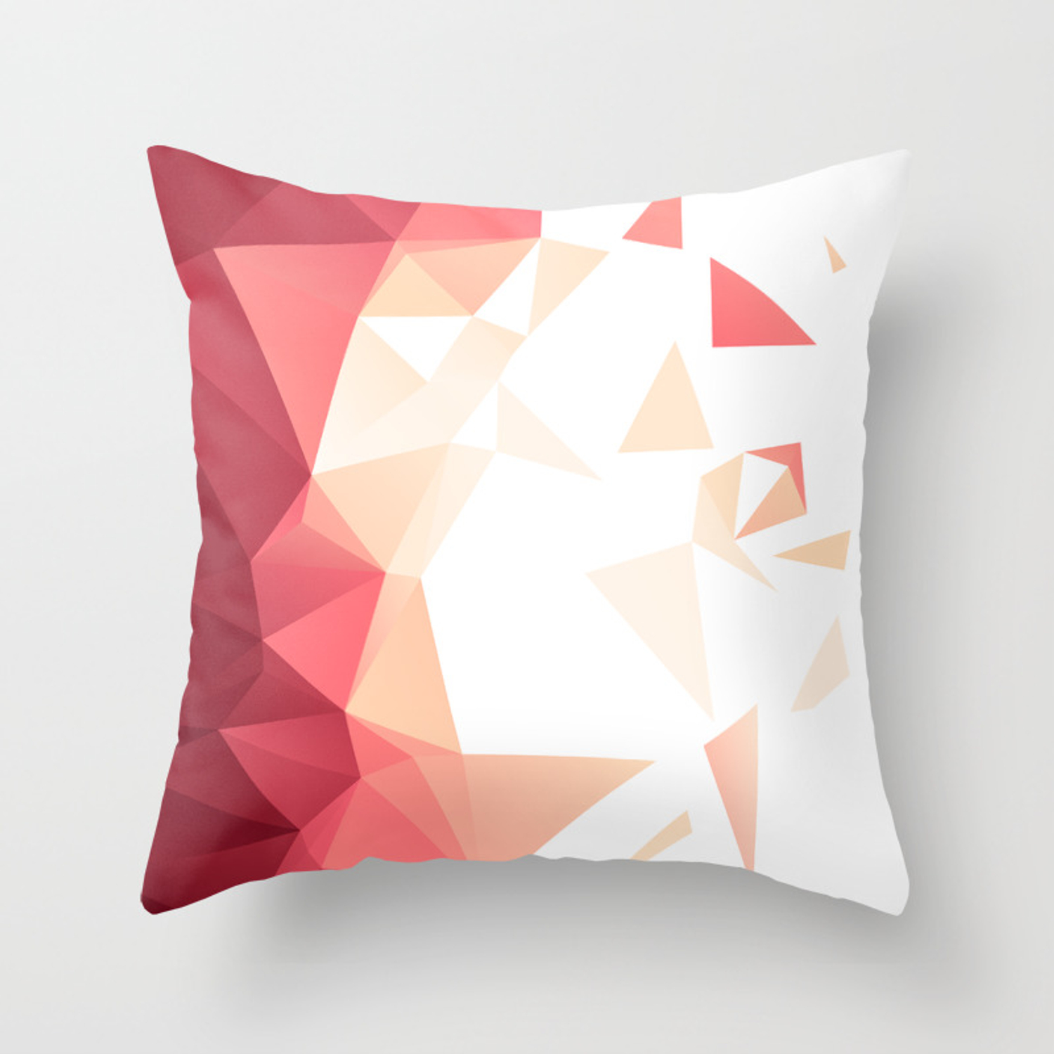 Polygonal Shapes On A Transparent Background Throw Pillow By Savvysoda Society6