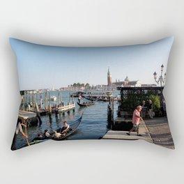 gondolier - venice Rectangular Pillow