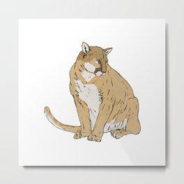 Mountain Lion Metal Print