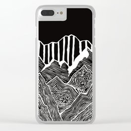 Geode Mountains Black and White Clear iPhone Case