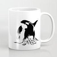 orca Mugs featuring Orca by Bekka Kate Art
