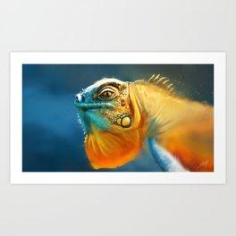 Iguana Painting Art Print