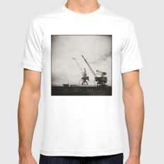 { dancing cranes } White MEDIUM Mens Fitted Tee