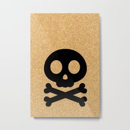 cork paper skelton Metal Print
