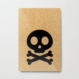 cork paper skelton Metal Print