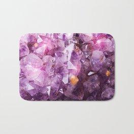 Violet Purple Amethyst Crystal Bath Mat