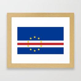 Cape Verde Flag Framed Art Print