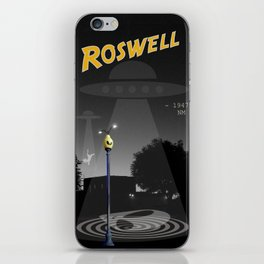 Aliens Over Roswell iPhone Skin