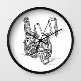 'Slicks R 4 Chicks' - Girls Mod Stingray Muscle Bike Cartoon Retro Bicycle Wall Clock