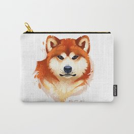 Akita Stylistic Portrait Carry-All Pouch