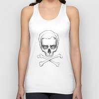 house md Tank Tops featuring Everybody Dies - House MD Skull Crossbones by Olechka