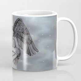 Eros , Amor - Angel and Woman in Love Coffee Mug