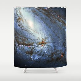 Spiral Galaxy M66 Messier 66 Shower Curtain