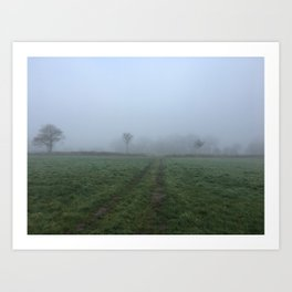 Misty Field Art Print