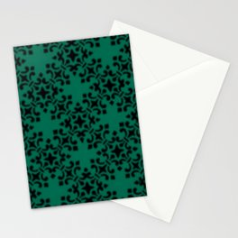 Vintage Brocade Damask Lush Meadow Stationery Cards