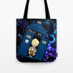 Tardis in space Doctor Who 5 Tote Bag