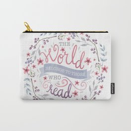 THE WORLD BELONGS TO THOSE WHO READ Carry-All Pouch