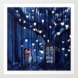 Tardis Art Of The Journey Art Print