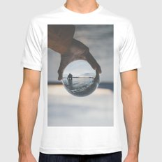 Perspective White LARGE Mens Fitted Tee