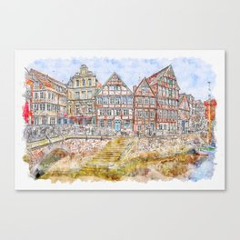 Waters Architecture Travel Canvas Print