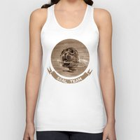seal Tank Tops featuring seal - sepia by ARTito
