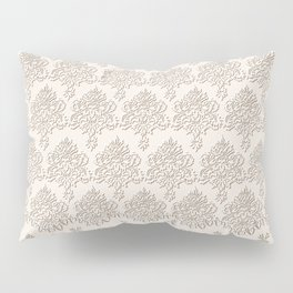 "Damask ""Cafe au Lait"" Chenille with Lacy Edge Pillow Sham"