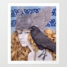 Valkyrie's Stare Art Print
