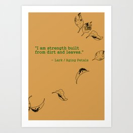 I Am Strength Art Print