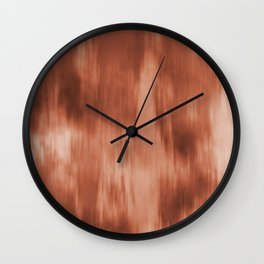 Fusion Water Color Blend Sherwin Williams Cavern Clay SW7701 Wall Clock