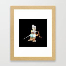 Knight night Framed Art Print