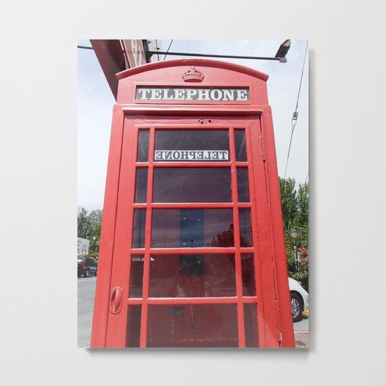 Telephone Booth Metal Print