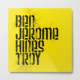 Ben Jerome Hines Troy / Gold Metal Print