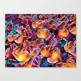 Midnight Magic Tulip Field Canvas Print